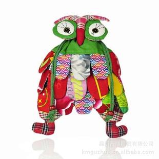 Yunnan characteristic handmade ethnic bag Fabric patchwork owl backpack export ethnic bag