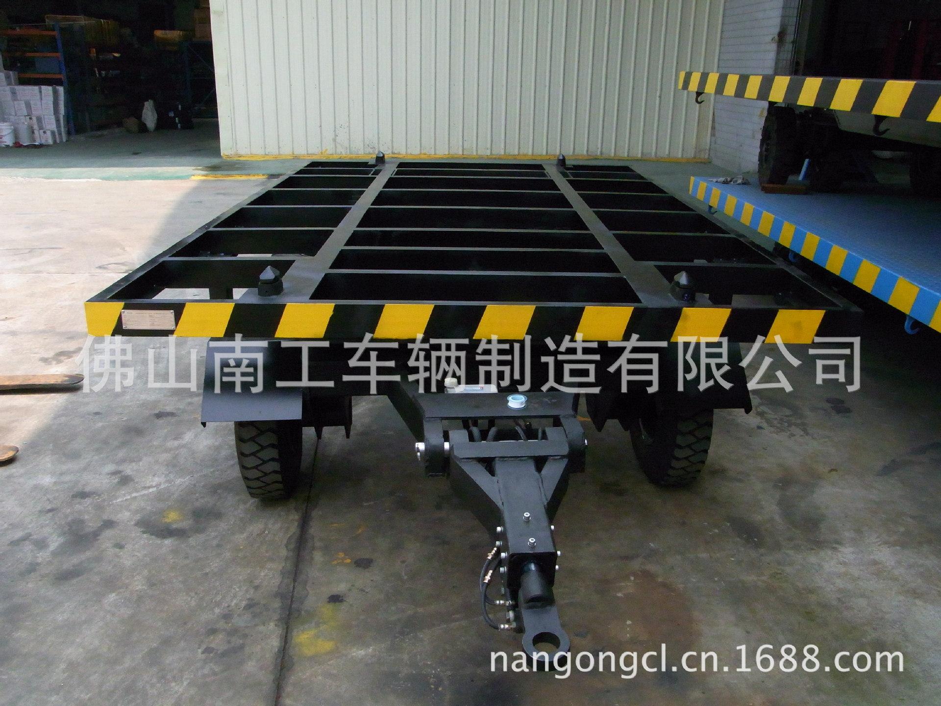 厂家直销航天质量平板拖车 4T平板拖车 空气胎平板车
