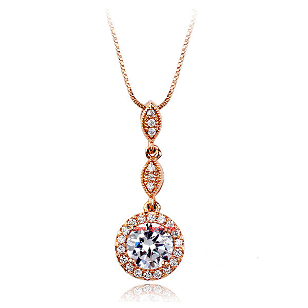 Womens fruit inlaid with zircon alloy Necklaces NHLJ147880