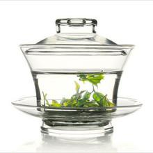 耐热玻璃盖碗 大号盖碗 功夫茶具 三才带盖碗 盖碗三件式 可定制