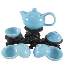 汝窑壶茶具 礼品促销 茶壶 开片套装 茶具套装 配送礼盒