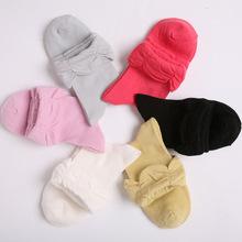 懒人lr春秋棉袜女款中筒袜纯色堆堆袜可爱淑女短袜子厂家批发027