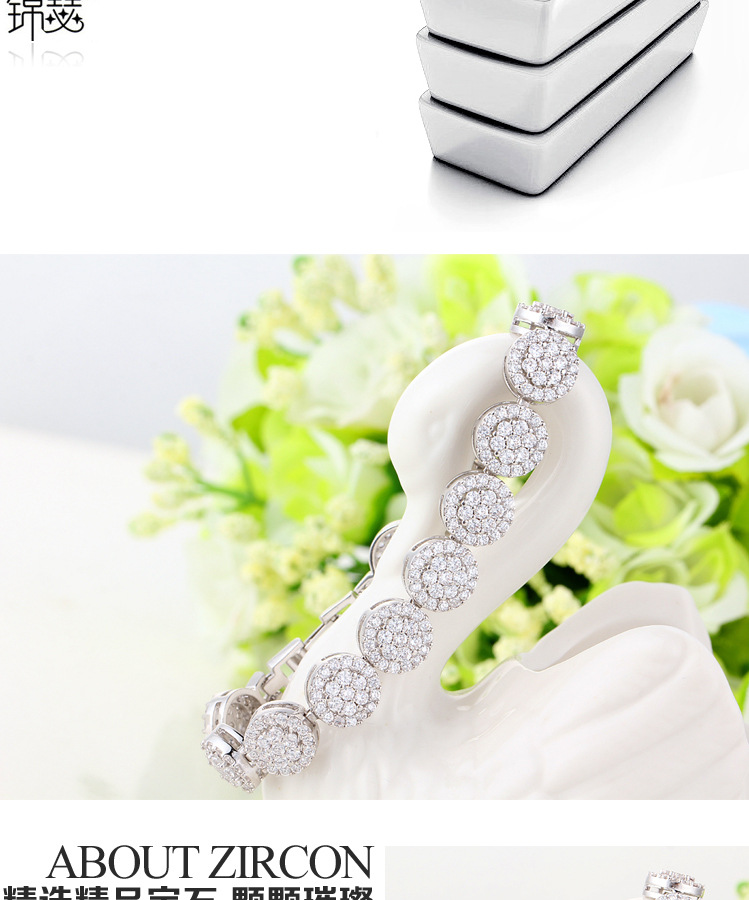 Fashion Zircon plating Bracelets(Circumference: 17cm-12D04)NHTM0166-Circumference: 17cm-12D04