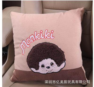 厂家定制卡通米琪琪汽车抱枕汽车专用靠垫空调被 广告促销产品