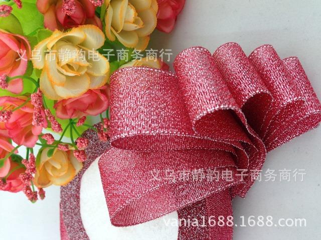 厂家供应大红彩葱带礼品包装丝带金银色婚庆用各种颜色现货批发