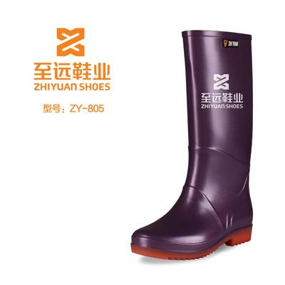 厂家直销雨鞋 女式水鞋 纯色高筒女雨靴 出口欧美套鞋时尚插秧鞋