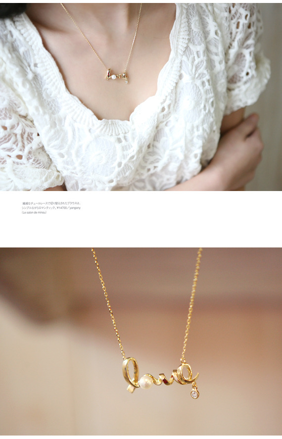 Explosion necklace LOVE English alphabet necklace with diamonds short necklace female neck chain clavicle chain wholesale NHCU180269