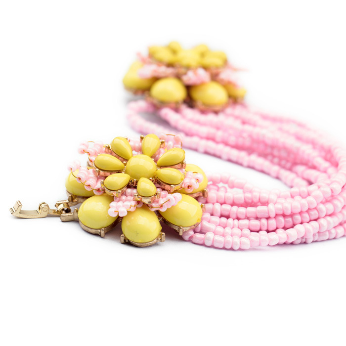 Alloy Fashion Flowers bracelet(Pink) NHQD4684-Pink