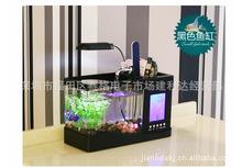 多功能亞克力魚缸/水族箱 USB迷你魚缸 生態小型金魚烏龜缸