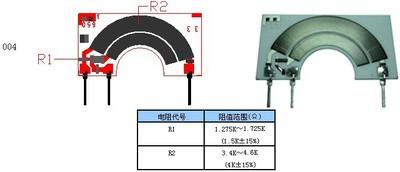 【生产厂家】2016供应碳膜电路节位传感器长耐磨寿命陶瓷电阻芯片