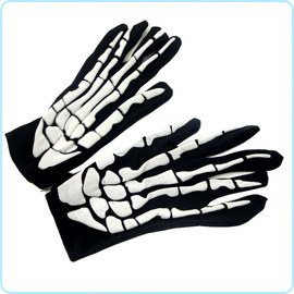 Halloween supplies ghost festival props ghost clothes with gloves scary skeleton ghost gloves foam cloth gloves