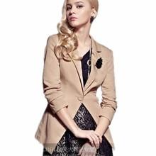 2013春裝女裝新款修身收腰抽褶一粒扣小西裝外套
