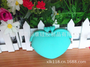 Silicone coin purse Fashion purse Heart-shaped coin purse Love coin purse