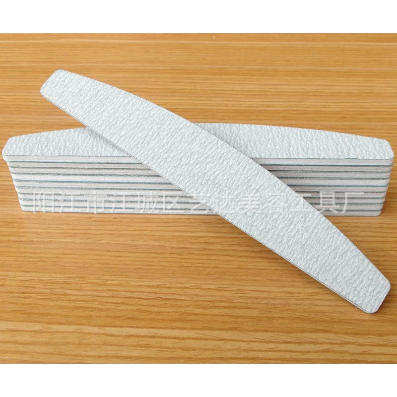 艺达爆款美容半月EVA砂纸锉 斑马砂纸指甲锉 月牙灰白美甲工具