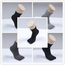 厂家直销 日单 纯色抗菌除臭 纯棉 男士女式五指袜子批发 4色