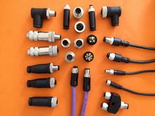 M8/M12/M16/连接线/连接器/金属屏蔽/接插件/航空插头/4 5 8 12芯