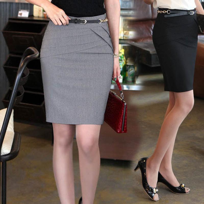 夏季新款OL风格百搭女半身西装包臀一步裙职业女?#24052;?#36152;团购半身裙