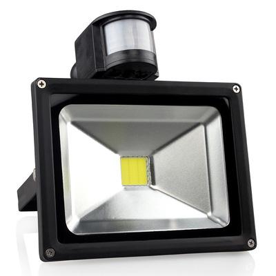 10w30w50w红外人体感应泛光灯投射大功率led投光灯远程自动感应