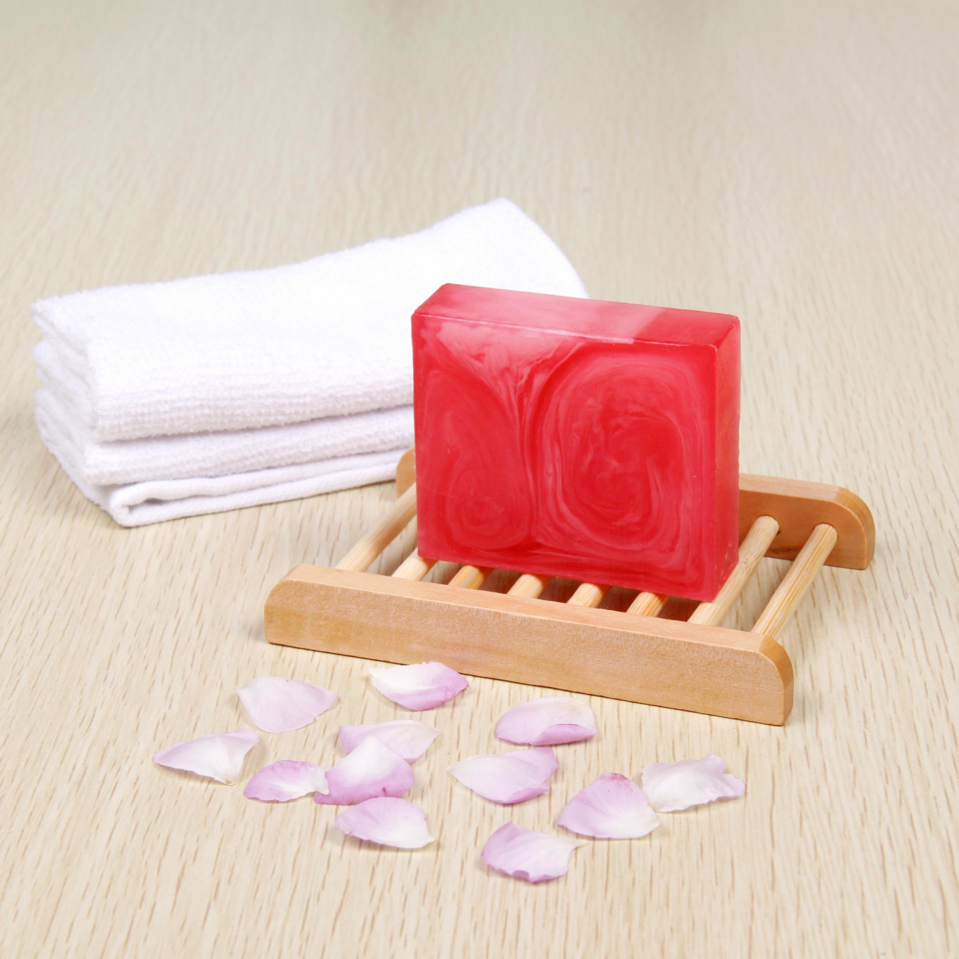 厂家直销保加利亚玫瑰植物手工肥皂保湿精油肥皂OEM定制加盟