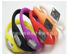 低價供應1度3度5度防水硅膠負離子電子手表戒指表和表芯機芯