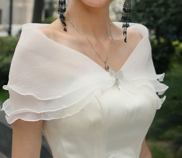 新款新娘白色披肩蕾丝披肩夏季薄款披肩婚纱配饰PJ065