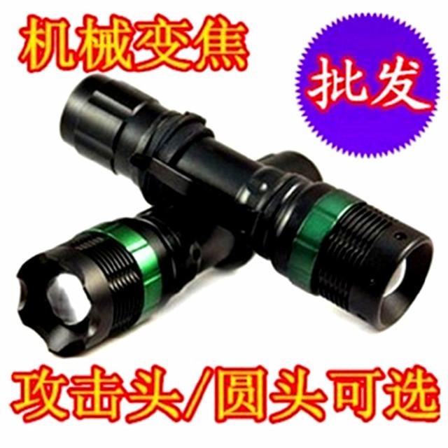 厂家直销XPE机械无极变焦远射充电 109电筒led手电强光充电手电筒