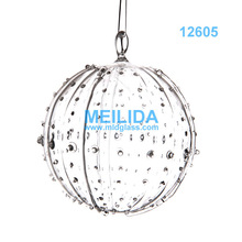 供應新款透明圣誕手工藝玻璃球/手工藝家居創意吊飾球種類繁多