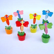 B008 韩国文具 木质花棚彩绘夹 卡通名片夹 可爱木质便签夹