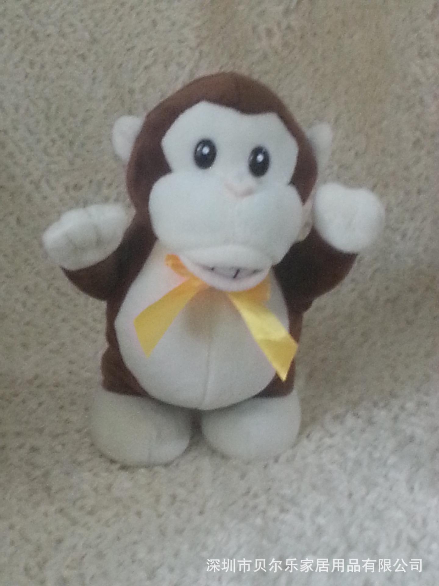 电动音乐玩具生日礼物会走路的毛绒玩具猴子定制创意玩具电动公仔