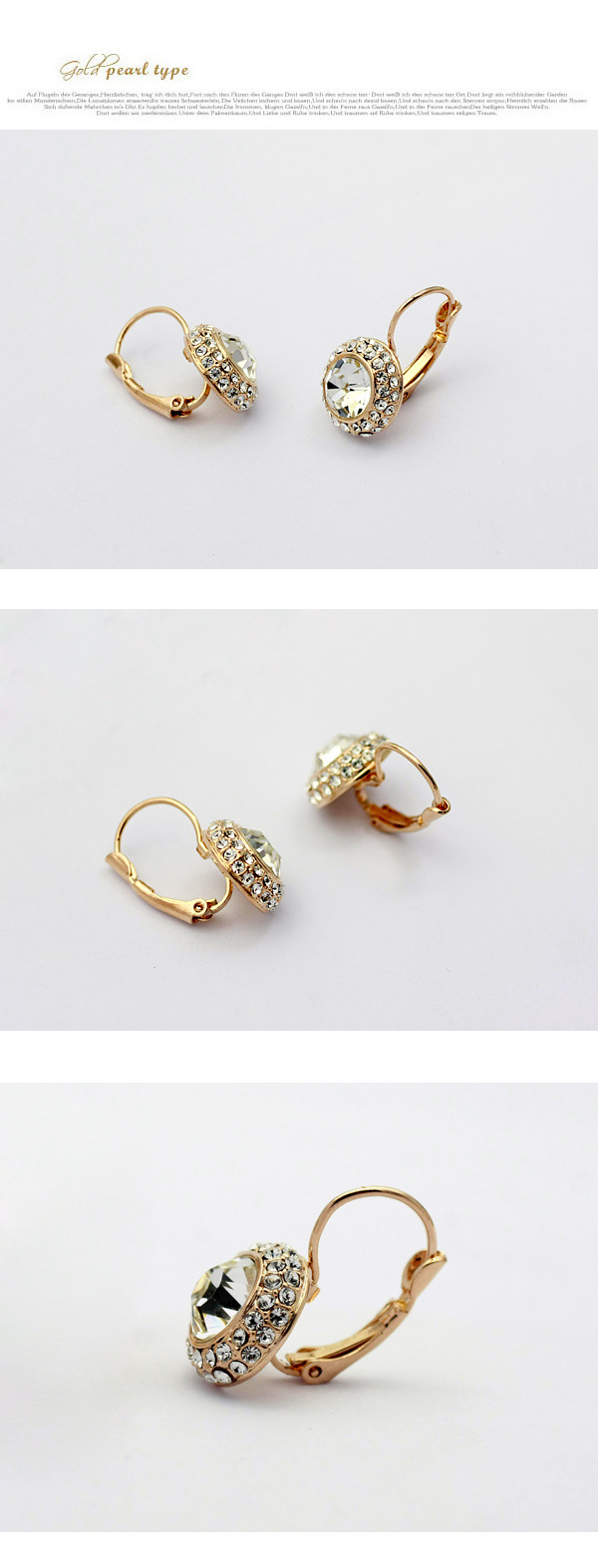 Fashion full rhinestone round imitated crystal earrings NHLJ145909