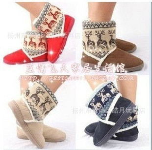 Manufacturers wholesale new autumn and winter wild deer snow boots boots warm shoes home floor shoes variety