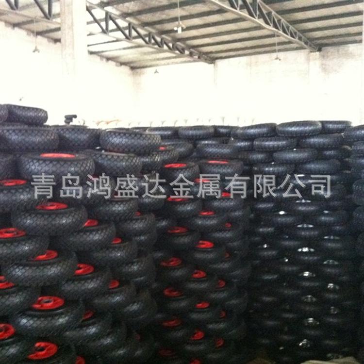 供应手推车轮子 350-8,400-8 充气轮 橡胶轮 实心轮 胶粉轮