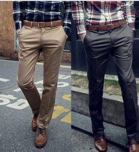 Foreign trade new eBay supply men's solid color straight tube trousers new men's casual trousers K02