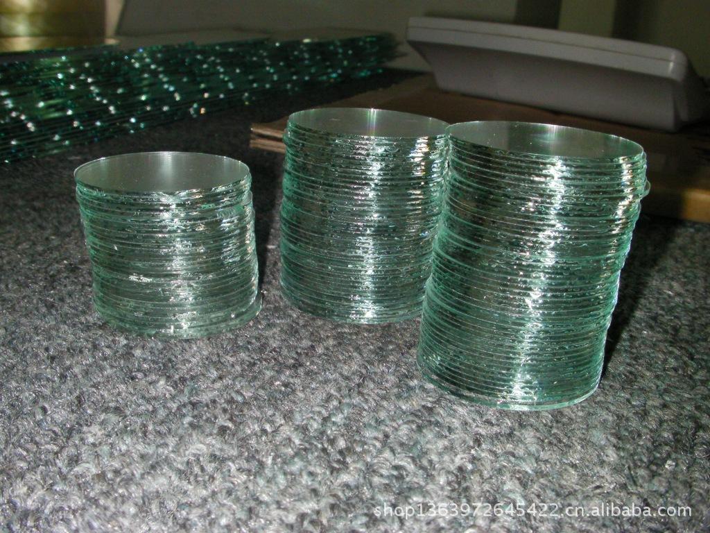 厂家 定制 1~3MM手电筒玻璃  手电筒圆形镜片玻璃