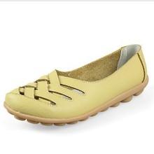 厂家直销时尚新款女式软底真皮妈妈鞋 潮流个性镂空透气妈妈单鞋