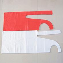 工厂定制优质一次性PE塑料围裙 防护围裙 美发披肩 外贸出口