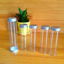 供应PVC管 金属盖透明塑胶包装管 订制生产塑料硬PVC管