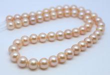 淡水珍珠 8-9mm 幾乎正圓無瑕疵強光珍珠項鏈圓珠項鏈半成品