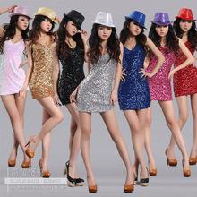 美蕾婭  夜店服裝女裝舞台裝 演出服 亮片連衣裙