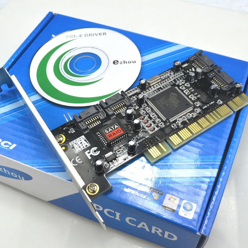 e宙3114阵列卡 SATA扩展卡 4口扩展 PCI转SATA转换卡 转接卡内置