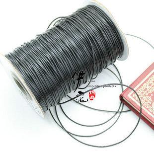 优质韩国蜡线饰品线 diy饰品项链绳1mm常用环保蜡线25元/卷 黑色