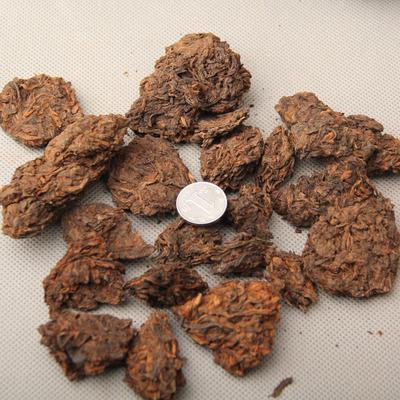 批发普洱茶 陈年老茶头 90年代自然沱 金芽勐海普洱茶头熟茶