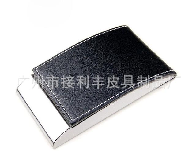 厂家 批发 不锈钢金属PU名片盒名片夹可印Logo男女士 名片盒