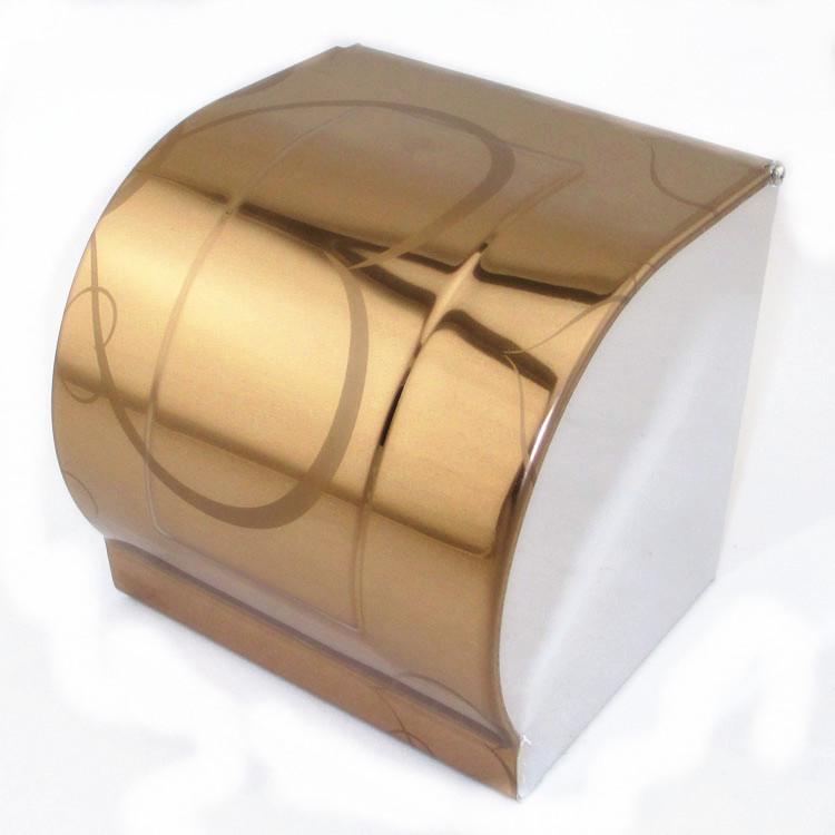 【厂家直销】欧式不锈钢纸巾盒 玫瑰金纸巾架 卷纸座