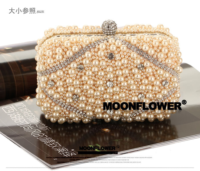 New tide bag female bag beaded embroidery craft evening party package NHYG176844