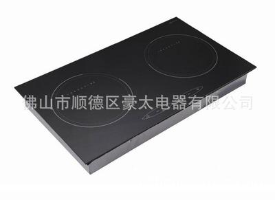 110v商用电磁炉 双眼电陶炉双灶 光波嵌入式双头电磁炉