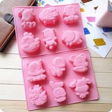 現貨批發 十二生肖硅膠蛋糕模具 硅膠蛋糕模具 石膏娃娃模具 DIY