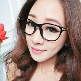 New big brand spectacle frame fashion personality flat lens frame myopia spectacle frame 3002