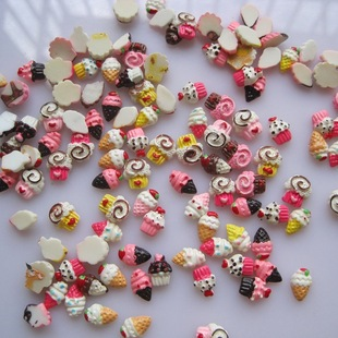 30 pieces / 200 pieces of a bag of nail art accessories Manicure DIY mixed resin jewelry Fortune bag #47