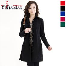 春秋女士新款韩版中长款风衣单排扣翻领修身外套羊毛大衣女装